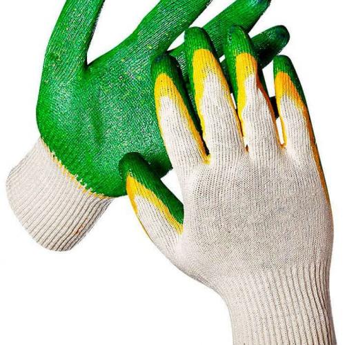 Перчатки с двойным обливом